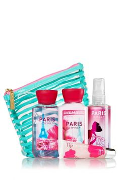 Paris Amour Scents & Stripes Gift Set - Signature Collection - Bath & Body Works. OMG, if someone buys this for me, I will love them forever! I want this so much!