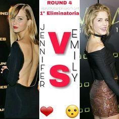 ROUND 4 ⚡ 1° Eliminatoria ⚡  #Jennifer o #Emily? ⚡  A voi la scelta ⚡  ⚡Hermione⚡