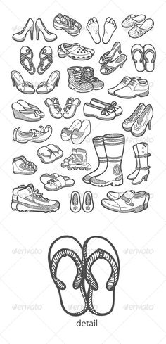 Shoes Icons Sketch
