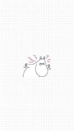 Cute Wallpaper Backgrounds, Lock Screen Wallpaper, Pattern Wallpaper, Cute Wallpapers, Iphone Wallpaper, Moomin Wallpaper, Cartoon Wallpaper, Walpapers Iphone, Tove Jansson