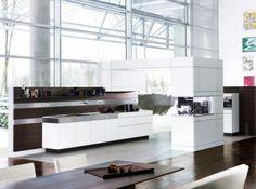 Fascinatiang Kitchens Design Ideas By German Maker Poggenpohl: Artesio german kitchen interior furniture design with modern style for open space plan Kitchen And Bath Design, Contemporary Kitchen Design, Kitchen Designs, Kitchen Trends, Luxury Kitchens, Cool Kitchens, Open Kitchens, Classic White Kitchen, German Kitchen