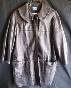 Vintage Ladies Black Leather Coat-No Reserve #Coat