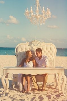 Fit for a King and Queen. ~ Gwenn Mexico Destination Wedding #beachwedding #weddingidea Repin by Inweddingdress.com