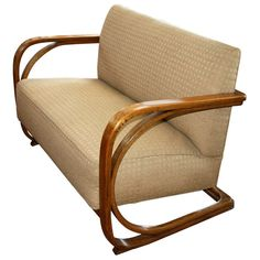 Bentwood Cantilevered Sofa | From a unique collection of antique and modern settees at http://www.1stdibs.com/furniture/seating/settees/