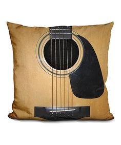 Love this Nicklas Gustaffson Guitar Throw Pillow on #zulily! #zulilyfinds