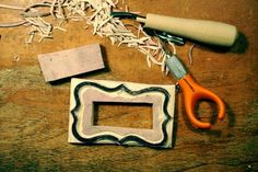 Freckled Nest: How to Make a label Stamp.