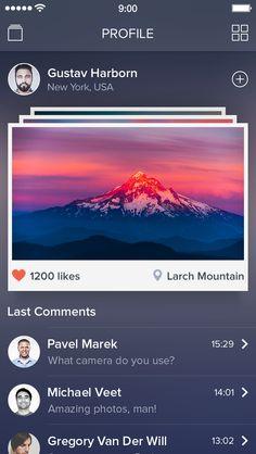 Photo App [Photographer Profile Screen] / Alexander Zaytsev