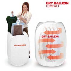 ¡Con la secadora portátil Dry Balloon Compact tu ropa estará seca y en perfectas