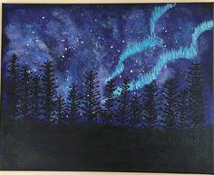 Northern Lights by ArtByCathyStudio on Etsy