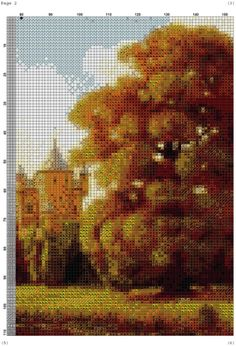 Gallery.ru / Фото #1 - PAISAJE 26 - marilyn2 Cross Stitch Designs, Cross Stitching, Beautiful Landscapes, Castle, Embroidery, Nature, Outdoor, Swan, Remedies