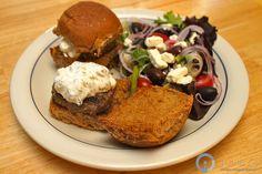 salad, greek venison, sliders, venison greek, greek slider, game recip, wild game, venison recip, slider recip