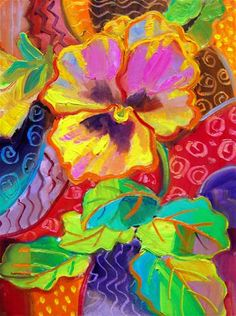 Pansy Time No. 9 - oil by ©Julie Ford Oliver (DailyPaintworks)