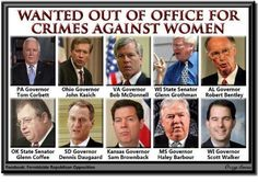 What do they all in common? They're all supportive of legislation that aggressively attacks a woman's right to choose. (http://front.moveon.org/)