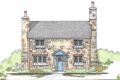 Cottage Style House Plan - 3 Beds 2 Baths 1292 Sq/Ft Plan #43-110 Front Elevation - Houseplans.com