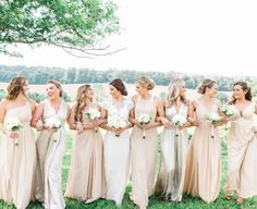Spring is probably the best season for weddings. With the refreshing air, warm temperature, eye-catching scenery, colors for spring weddings are quite various. And there are many color palettes for spring bridesmaid dresses. Spring Bridesmaid Dresses, Champagne Bridesmaid Dresses, Bridesmaid Dress Colors, Azazie Bridesmaid Dresses, Wedding Bridesmaids, Wedding Dresses, Azazie Dresses, Dresses Dresses, Bride Dresses