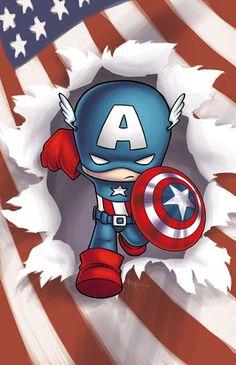 baby captain america illustration - Buscar con Google