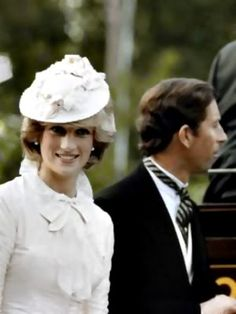 June 29, 1983: Prince Charles & Princess Diana dressed up in Edwardian fashion for a Klondike evening barbeque at Fort Edmonton in Edmonton, Canada during the Royal Tour of Canada. (Day 16)
