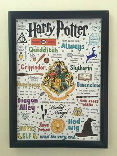 Harry Potter doodles framed