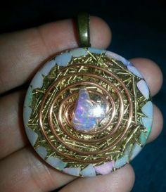 Opal Orgone Pendant-EMF & Psychic Protection, Intuition, Chakras,Beauty-Orgonite Chakras, Intuition, Crystal Healing, Opal, Christmas Bulbs, Crystals, Pendants, Holiday Decor, Beauty