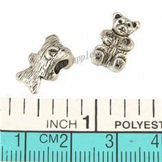 Zinc Alloy Animal Large Hole Beads,Bear,Plated,Cadmium And Lead Free,Various Color For Choice,Approx 13*8*8mm,Hole:Approx 4mm,Sold By Bags,No 010144