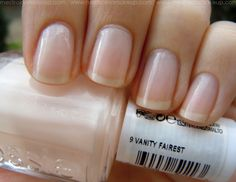 Essie - Vanity Fairest is one of my most favorite shades ever!!! One coat makes for a beautiful, clear finish on natural nails. 2-3 coats creates the perfect nude/natural shade! - SRW