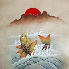 입신양명 민화에 대한 이미지 검색결과 Ephemera, Moose Art, Delicate, Tapestry, Fish, Traditional, Art Things, Inspiration, Painting