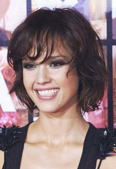 Short Wavy Curly Bob Hairstyle jessica alba - Google Search
