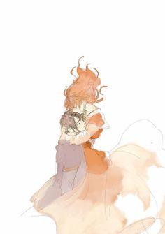 Hak and Yona ♡ Akatsuki No Yona, Anime Akatsuki, All Anime, Anime Love, Manga Anime, Anime Couples, Cute Couples, Art Drawings Beautiful, Girl Standing
