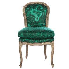 """Tony Duquette  / Belvedere """"Malachite"""" Chair"""