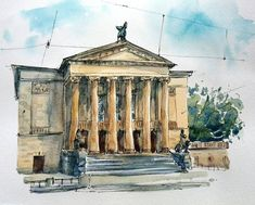sofi andreyuk (@sofiandreyuk) в Instagram: «Great Theatre in Poznan. Poland. #poland #aquarell #art #painting #watercolor #watercolour #sketch #paint #drawing #sketching #sketchbook #travelbook #archisketcher #sketchaday #sketchwalker #sketchcollector #traveldiary #topcreator #usk #urbansketch #urbansketchers #скетчбук #скетч #скетчинг #pleinair #aquarelle #watercolorsketch #usk #architecture #painting #illustration