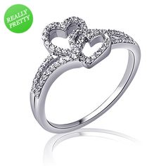 I've tagged a product on Zales: 1/4 CT. T.W. Diamond Entwined Hearts Promise Ring in Sterling Silver