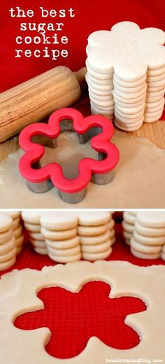 The Best Sugar Cookies Recipe We have found The Best Sugar Cookie Recipe ever and we couldn't wait to share it so that everyone can have super yummy homemade sugar cookies. Homemade Sugar Cookies, Sugar Cookie Recipe Easy, Best Sugar Cookies, Sugar Cookie Dough, Easy Cookie Recipes, Cookie Cutter Recipes, Healthy Recipes, Best Sugar Cookie Recipe For Royal Icing, Sugar Cookies To Decorate