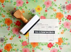 This Is How We Do It - Rubber Stamp via Etsy.