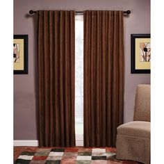 Dark curtains, a must for privacy.
