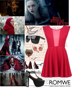 """""""Red Riding Hood"""" by mariemvs ❤ liked on Polyvore"""