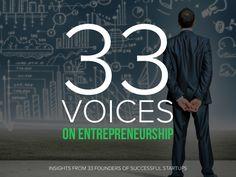 33 Voices on Entrepreneurship Startups, Entrepreneurship, The Voice, Insight, Success, Marketing, Movies, Films, Movie Quotes