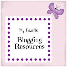 My Favorite Blogging Resources. Planning posts, How to add social media icons, 99 ways to increase traffic and more.