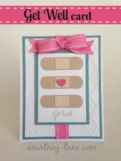 Get Well Band aid card