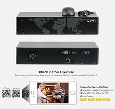 GW Security 8 Channel 5 Megapixel NVR HD-IP HDMI Security Network Video Recorder – Supports Up 8 X 5MP /4MP /3MP 1080P Any ONVIF IP Cameras @ 30fps Realtime, Quick QR Code Smartphone Access
