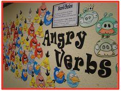 Angry Verbs Bulletin Board
