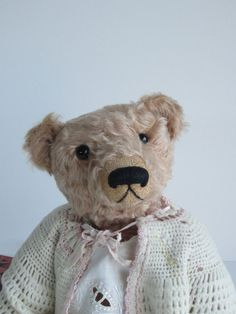 Artist Teddy Bear OOAK Mohair fully jointed by ElementreeStudio,
