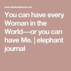 Elephant journal dating site