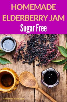 Learn How to Make Elderberry Jam with this easy recipe. This elderberry jelly recipe is so easy to make at home and is great for the immune system! It can be made using either fresh or dried elderberries. We show you how to make this delicious elderberry jam recipe that all the family will love! Healthy Dips, Healthy Meal Prep, Easy Healthy Recipes, Easy Meals, Elderberry Jelly Recipe, Elderberry Jam, Jelly Recipes, Jam Recipes, Blueberry Juice