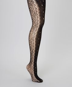 Black Floral Side Tights. These are absolutely gorgeous!!! These are are a must!!!