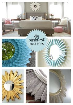 DIY Sunburst Mirror Inspiration via Shoes Off Please