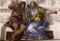 Paolo Veronese - Saturn (Time) and Historia, 1560-61, Fresco, Villa Barbaro, Maser