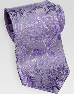 Sean John Purple Paisley Extra Long Tie | Men's Wearhouse