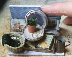 "766 Likes, 6 Comments - Le Mini Di Claudia (@leminidiclaudia) on Instagram: ""Lavender vintage display.  Now in my Etsy shop!  #dollshouseminiatures #leminidiclaudia…"""