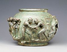 Bronze #superbowl is encircled with athletes competing fiercely. Bowl with Competing Athletes, Gallo-Roman, A.D. 75-100. The J. Paul Getty Museum. Bruce White Photography