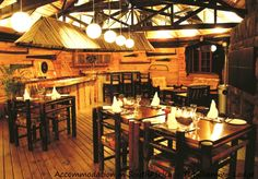 Dining room at Tsitsikamma Lodge & Spa. Lodge Accommodation at Storms River. Allure Spa, Dining Room, Cabin, Storms, Building, River, Design, Home Decor, Thunderstorms